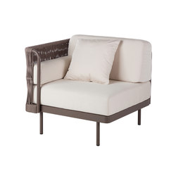 Weave Modular Armchair right arm | Garden armchairs | Point