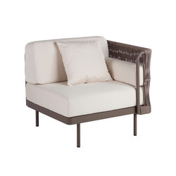 Weave Modular Armchair left arm | Fauteuils de jardin | Point