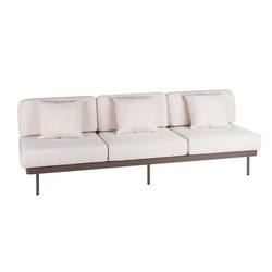Weave Modular 3 with no arms | Garden sofas | Point
