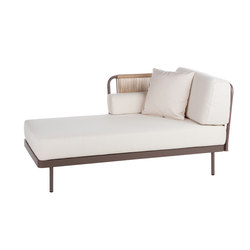 Weave Chaiselongue right arm | Sdraio da giardino | Point