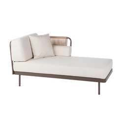 Weave Chaiselongue left arm | Sun loungers | Point