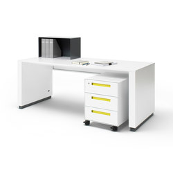 WORK Variabel adjustable Desk | Tables collectivités | Müller Möbelfabrikation