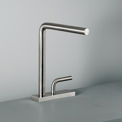 Levo | Stainless steel Wash Basin Mixer | Grifería para lavabos | Quadrodesign