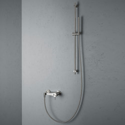 Ottavo | Stainless steel Wall mounted external mixer set | Shower controls | Quadrodesign