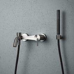 Ottavo | Wall mounted external mixer set | Outdoor showers | Quadro