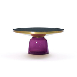 Bell Coffee Table brass-glass-violett | Mesas de centro | ClassiCon