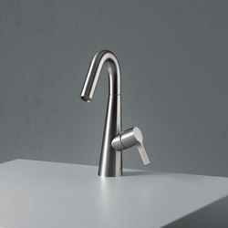Volcano | Stainless steel Deck mounted mixer | Wash basin taps | Quadrodesign
