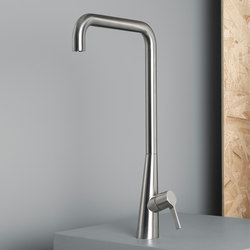 Volcano | Stainless steel Kitchen sink mixer | Wash basin taps | Quadrodesign
