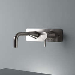 Volcano | Stainless steel Wall mounted mixer | Wash basin taps | Quadrodesign