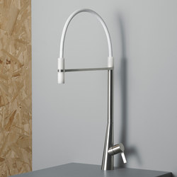 Volcano | Stainless steel Kitchen sink mixer | Kitchen taps | Quadrodesign