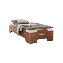 Stacking bed classic walnut | Beds | Müller Möbelwerkstätten