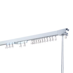 Alumninium Curtain Rail | 202 SZENE | Ceiling fixed systems | LEHA