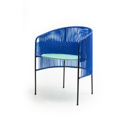 Caribe | dining chair, blue/mint/black | Restaurant chairs | Ames
