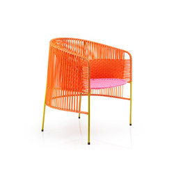 Caribe | lounge stuhl, orange/rosa/curry | Gartensessel | Ames