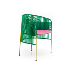 Caribe | dining chair, green/rose/curry | Chaises | Ames