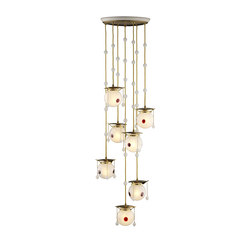 Kolo Moser chandelier | Suspended lights | Woka