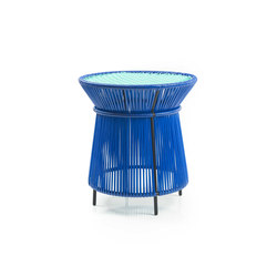 Caribe | high table, blue/mint/black | Side tables | Ames