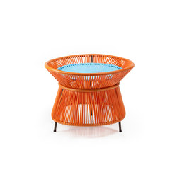 Caribe | basket table, orange/turquoise/brown | Side tables | Ames
