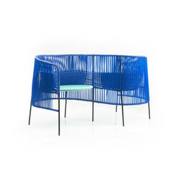 Caribe | vis a vis, blue/mint/black | Garden benches | Ames
