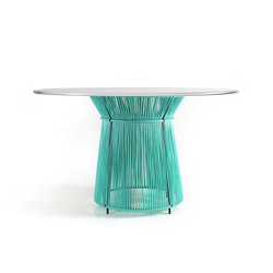 Caribe | dining table, mint/grey white | Tavoli pranzo | Ames