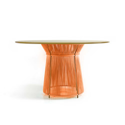 Caribe | dining table, orange/curry | Tables de restaurant | Ames