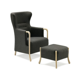 Claudia Armchair with footstool | Lounge chairs | Stouby