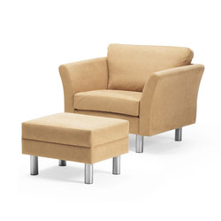HJM Lotus Armchair with footstool | Lounge chairs | Stouby
