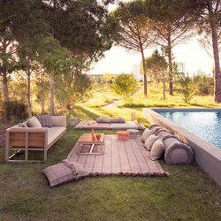 Garden Layers Rug Checks terracotta | Rugs / Designer rugs | GAN