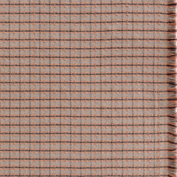Garden Layers Rug Checks terracotta | Formatteppiche | GAN