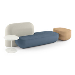 okome 002 + small table b + pouf | Asientos modulares | Alias