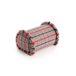 Garden Layers Big Roll Tartan blue | Coussins | GAN