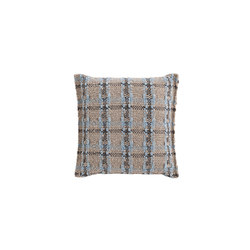 Garden Layers Small Cushion Checks blue | Coussins | GAN