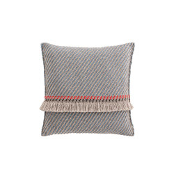 Garden Layers Big Cushion Diagonal almond-blue | Cushions | GAN