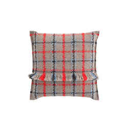 Garden Layers Big Cushion Tartan blue | Kissen | GAN