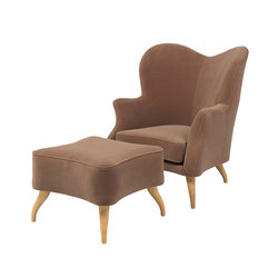 Bonaparte Chair and Pouffe | Loungesessel | GUBI