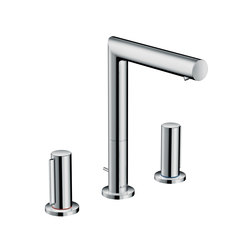 AXOR Uno 3-hole basin mixer 200 zero handle with pop-up waste set | Wash basin taps | AXOR
