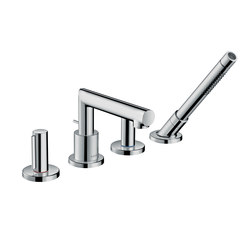 AXOR Uno 4-hole rim mounted bath mixer zero handle | Bath taps | AXOR
