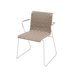 Slim Collection Dining | Chair Belt with armrest | Sillas de jardín | Viteo