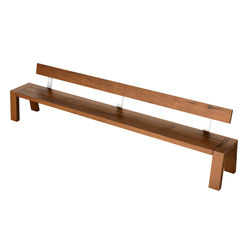 Solo Collection | Bench with Backrest 330 | Bancs de jardin | Viteo