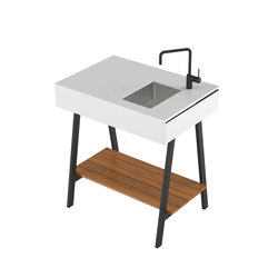 Adapt | Module 90 Witch Sink | Outdoor kitchens | Viteo