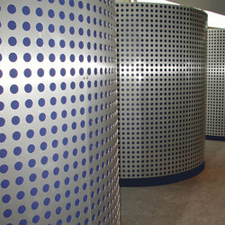 Perforated Metal Custom Divider in Classic Collection Clear | Paneles metálicos | Moz Designs