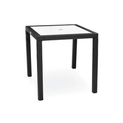 Aria Counter Height Table With Tempered Glass Top | Garten-Esstische | Kannoa