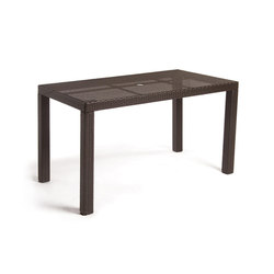 Barbados Table With Tempered Glass Top | Garten-Esstische | Kannoa
