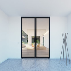 Portapivot 6530 | double door black anoized | Internal doors | PortaPivot