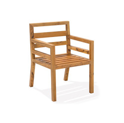 Cali Dining Chair With Arms | Sièges de jardin | Kannoa