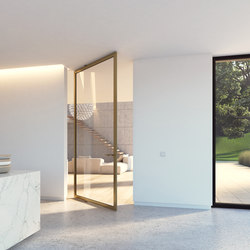 Portapivot 6530 XL | bronze anodized | Glass partitions | PortaPivot