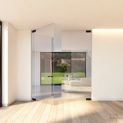 Portapivot Glass | black anodized | Hinges for glass doors | PortaPivot