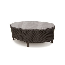 Corona Coffee Table With Tempered Glass Top | Garten-Couchtische | Kannoa