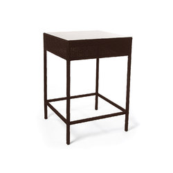 Roma Bar Table With Tempered Glass Top | Bar tables | Kannoa
