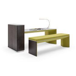 Winea Plus | Panelleg table & Bench | Escritorios individuales | WINI Büromöbel